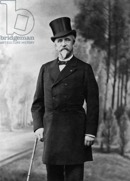 Henri d'Orleans (1822-97) Duke of Aumale (b/w photo)