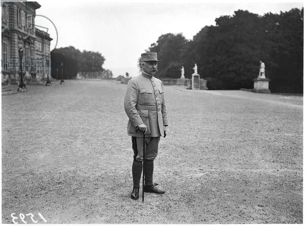 General Petain (1856-1951) at Compiegne, 1917-18 (b/w photo)
