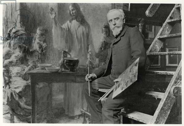 Leon Augustin Lhermitte (1844-1925) 1905 (b/w photo)