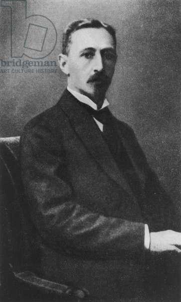 Portrait of Ivan Aleksiéïévitch Bounine, Russian writer, 1915 (b/w photo)