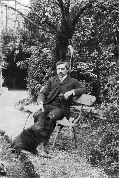 Maurice Maeterlinck (1862-1949) (b/w photo)