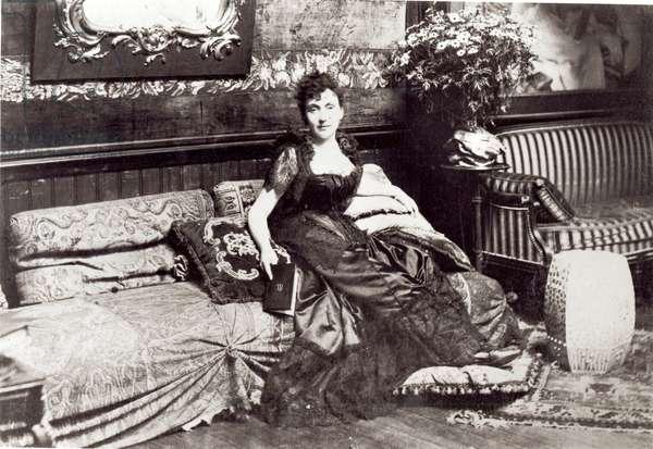 Portrait of Madeleine Lemaire (1845-1928) (b/w photo)