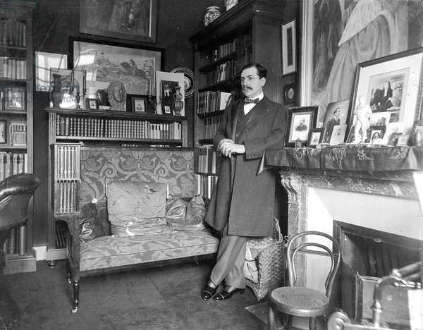 Paul Bourget (1852-1925) (b/w photo)