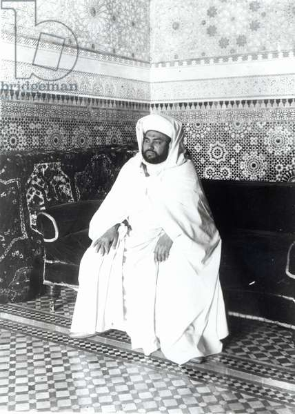 Youssef, Sultan of Morocco (b/w photo)