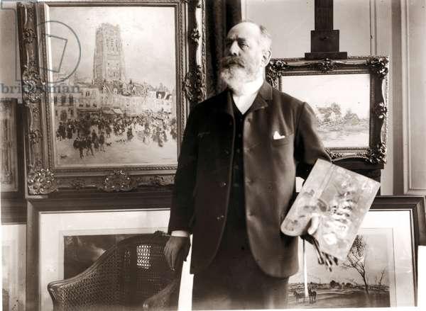 Jean-Francois Raffaelli (1850-1924) (b/w photo)