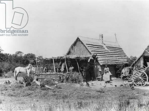 Guardian's hut in Camargue (b/w photo, c.1900)