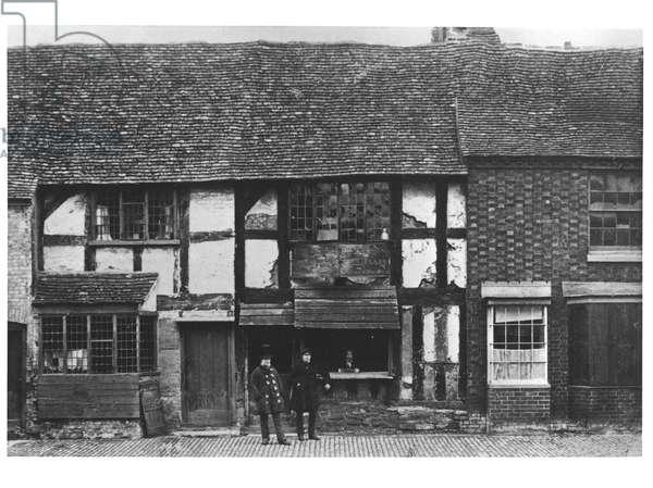 William Shakespeare's house at Stratford-upon-Avon, ca.1900 (b/w photo)