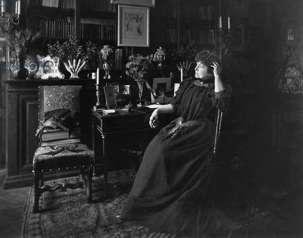 Portrait of Severine (1855-1929) (b/w photo)