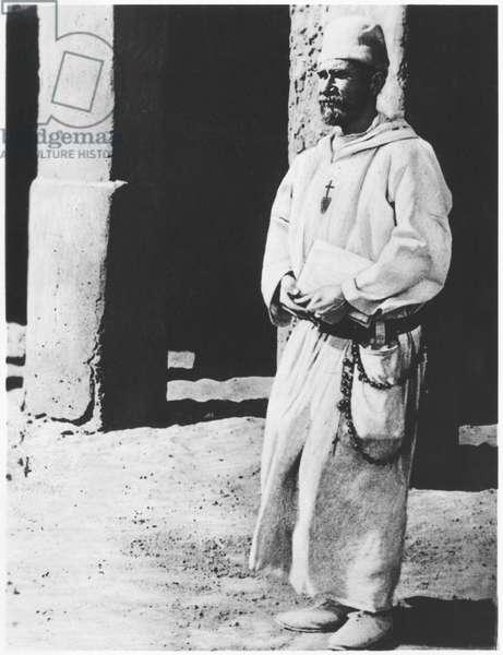 Vicomte Charles Eugene de Foucauld (1858-1916) (b/w photo)