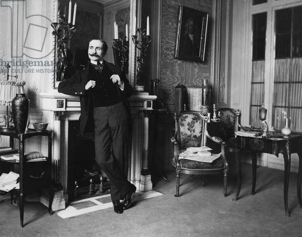Edmond Rostand (b/w photo)