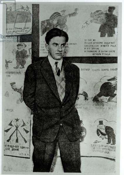 Portrait of Vladimir Vladimirovitch Maiakovski (1894-1930) c.1930 (b/w photo)