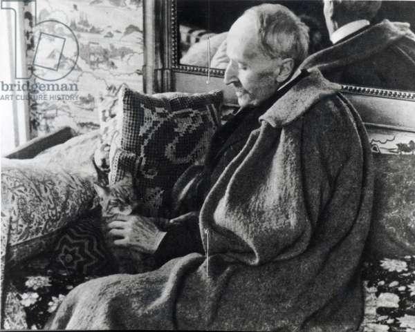 Romain Rolland at Villeneuve, 1935 (b/w photo)