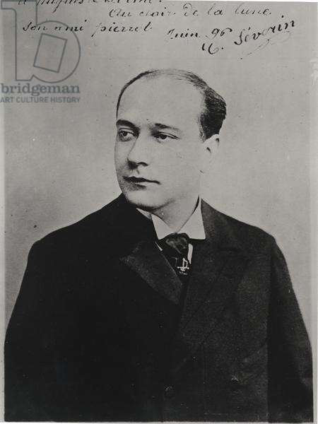 Portrait of Severin Cafferra, known as Severin (1863-1930), 1896 (b/w photo)