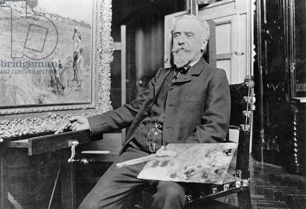 Leon Augustin Lhermitte (1844-1925) c.1905 (b/w photo)