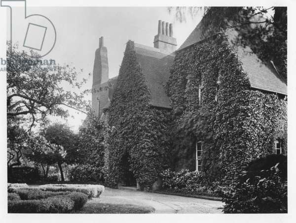 Red House at Bexley Heath, designed by Philip Webb (1831-1915) for William Morris (1834-96) ca.1900 (b/w photo)