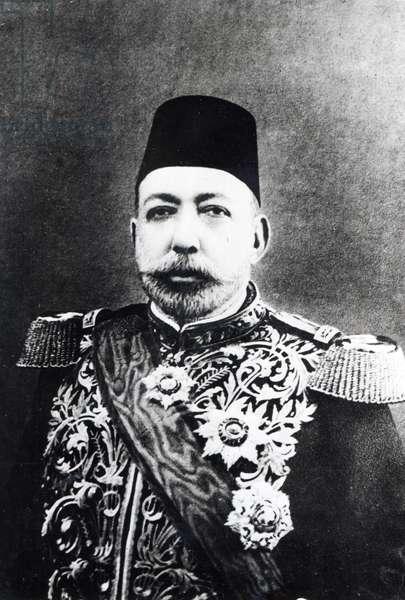 Sultan Mehmet V, c.1900 (b/w photo)