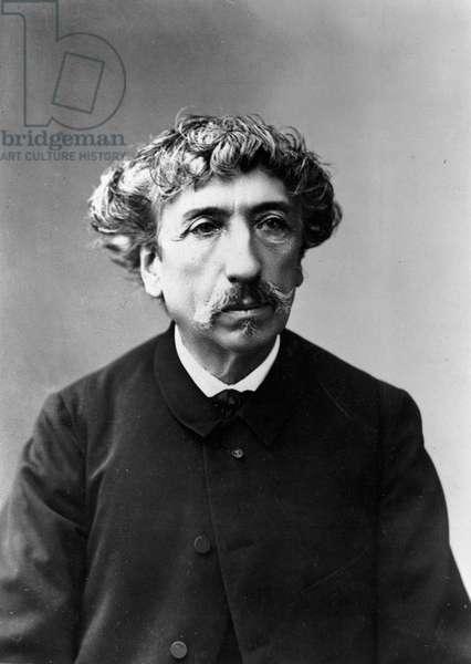 Portrait of Edouard Barrera (1836-1903) (black and white photograph)