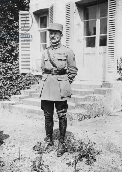 General Maxime Weygand, chief of staff to Marshal Foch, 1918 (b/w photo)