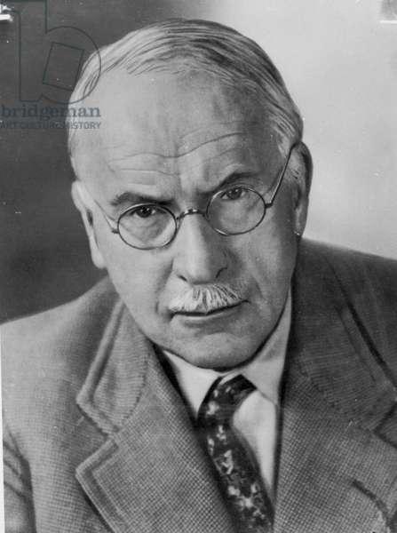 Portrait of Carl Gustav Jung (1875-1961) (b/w photo)