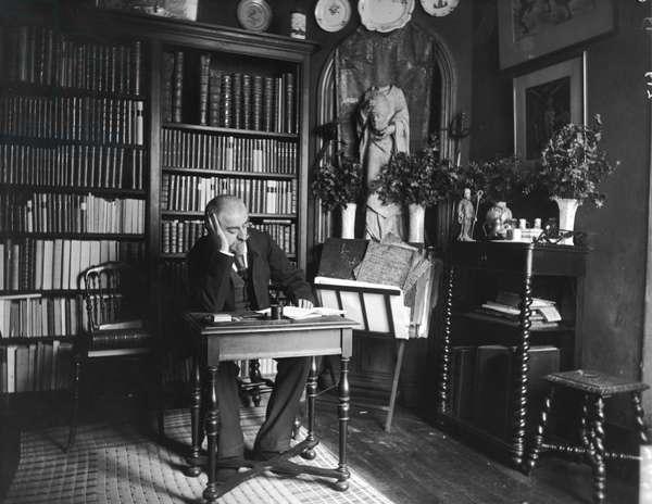 Portrait of Joris-Karl Huysmans (1848-1907) (b/w photo)