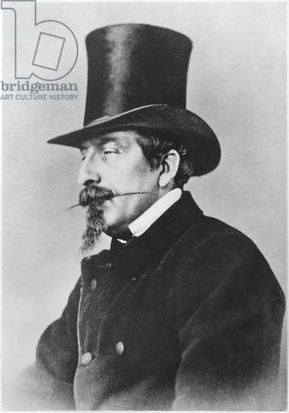 Portrait of Emperor Napoleon III (b/w photo)