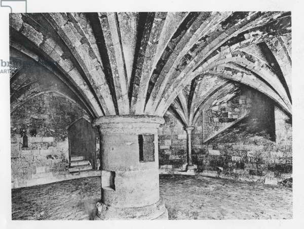 Crypt of Westminster Abbey, ca.1900 (b/w photo)