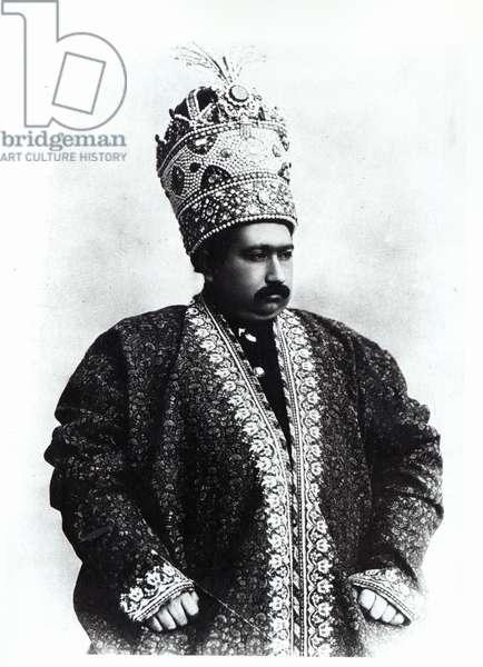 Mohammad Ali Shah Qajar, 1907-09 (b/w photo)