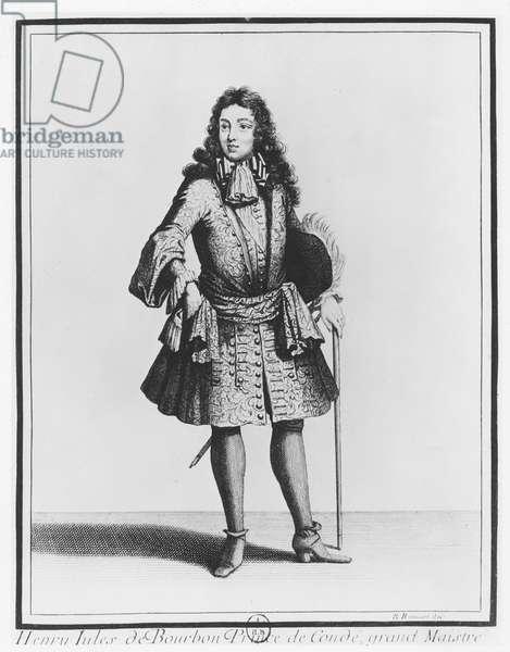 Henri-Jules de Bourbon, Prince of Condé (engraving)