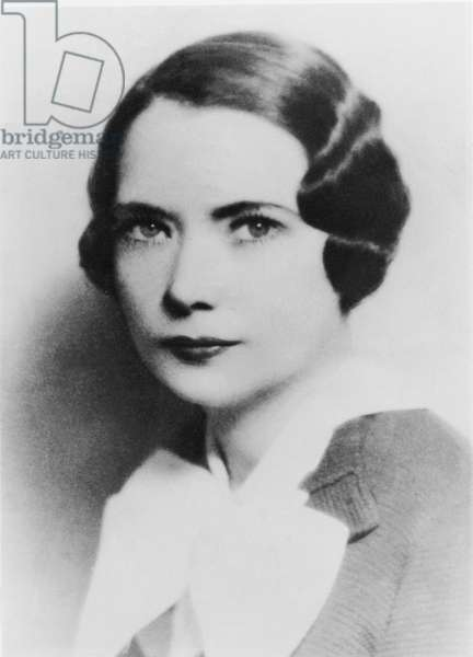 Portrait of Margaret Mitchell (1900-49) (b/w photo)