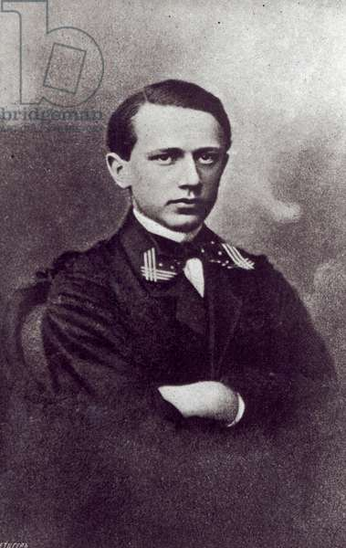 Portrait of Piotr Ilyich Tchaikovsky (1840-93) 1863 (b/w photo)
