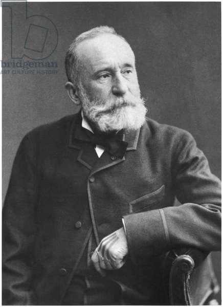 Pierre Puvis de Chavannes (1824-98) late 19th century (b/w photo)