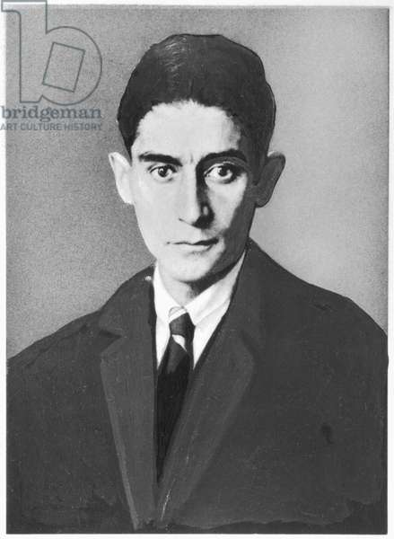 Portrait of Franz Kafka (1885-1924) (b/w photo)