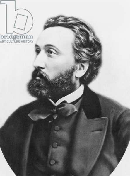 Leon Gambetta (1838-82) c.1870 (b/w photo)