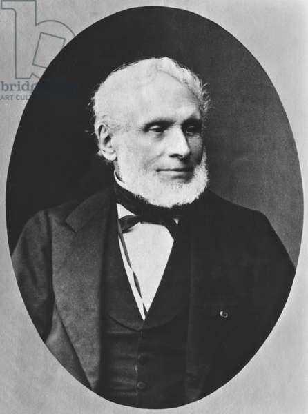 Joseph Nicolas Robert Fleury, known as Robert-Fleury (1797-1890) (b/w photo)