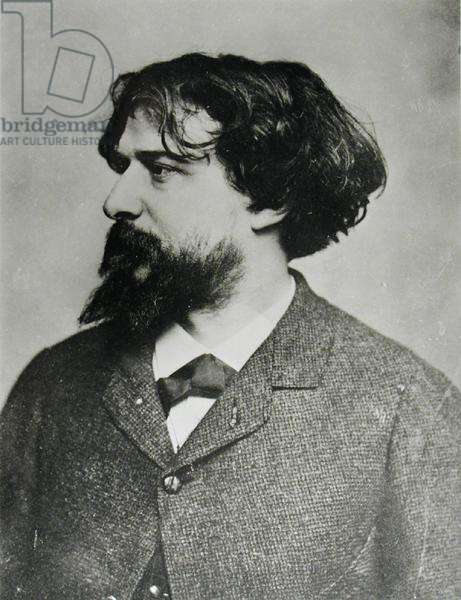 Portrait of Alphonse Daudet (1840-1897) (b/w photo)