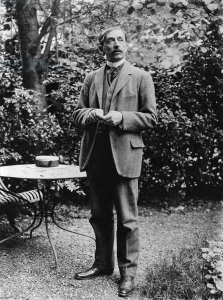 Maurice Barres (1862-1923) c.1900 (b/w photo)