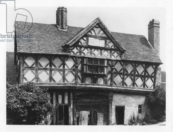 Stokesay castle, ca.1900 (b/w photo)