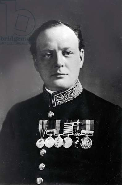 Winston Churchill, 1924 (b/w photo)