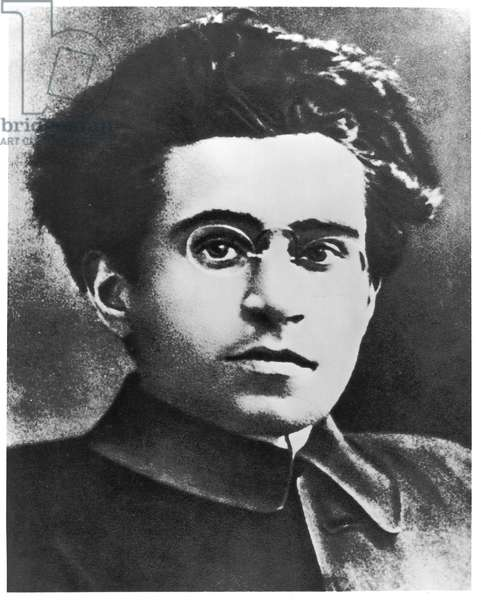 Portrait of Antonio Gramsci (1891-1937) c.1910 (b/w photo)