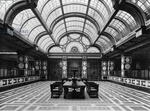 Entrance hall of the Czechoslovak Legions Bank, Prague, c.1926 (b/w photo)