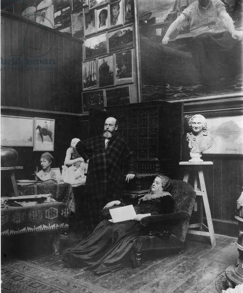 Paul Albert Besnard and his wife (b/w photo)