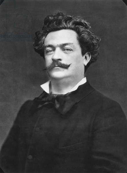 Louis Alexandre Gosset de Guines known as Andre Gill (1840-85) c.1880 (b/w photo)