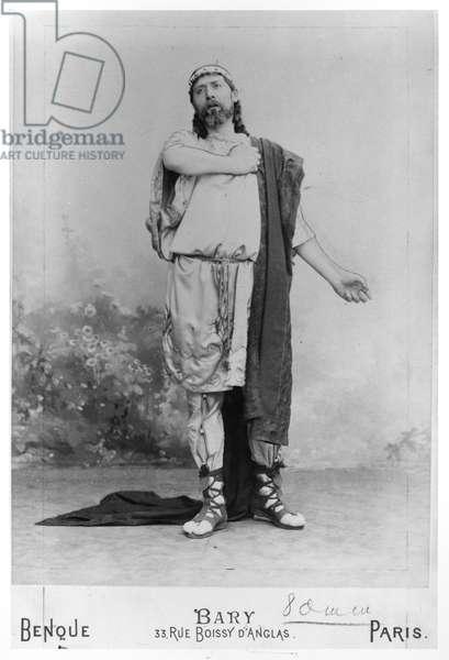 Dauvilliers as Philoctete in 'Dejanire' (b/w photo)