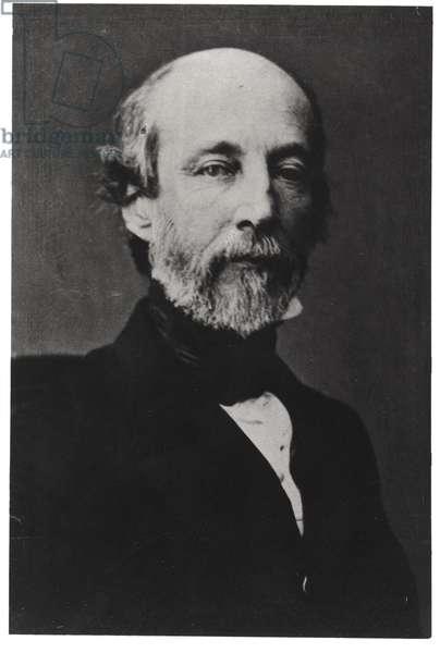 Frederic-Alfred-Pierre de Falloux (1811-86) (b/w photo)