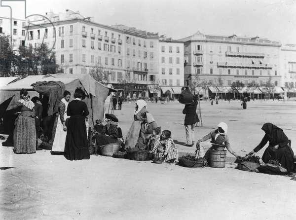 Walk to Ajaccio (b/w photo, c.1900)