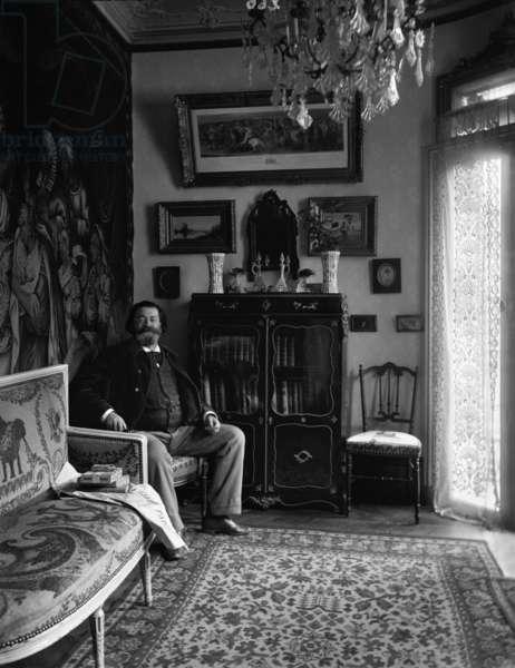 Portrait of Edouard Drumont (b/w photo)