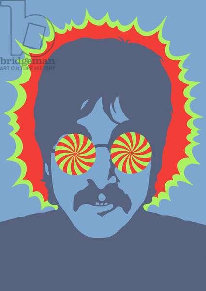 Lennon - Kaleidoscope Eyes, 1967 (acrylic)