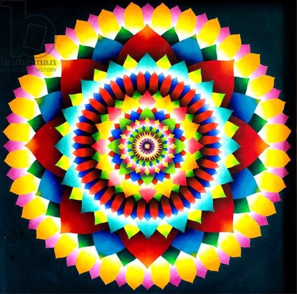 Psychedelic Mandala, 1969 (acrylic)