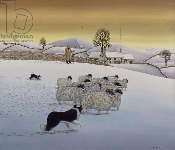 The Fells in Winter, 1984 (acrylic on linen)
