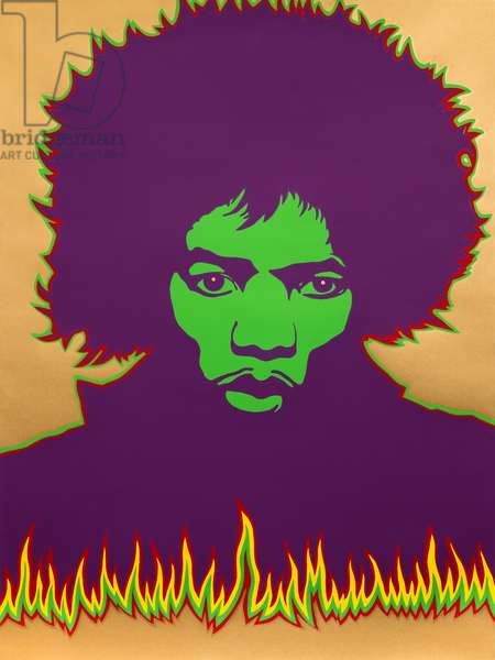 Hendrix - Fire, 1967 (acrylic)